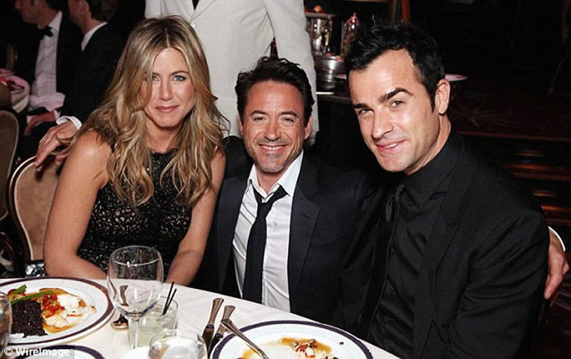Justin Theroux Jennifer Aniston with Robert Downey Jr CINEMATHEQUE
